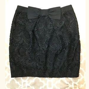 SALE River Island Lace Large Bow Black Skirt (B)